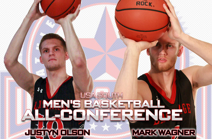 Men's Basketball: Justyn Olson, Mark Wagner selected to USA South All-Conference second team