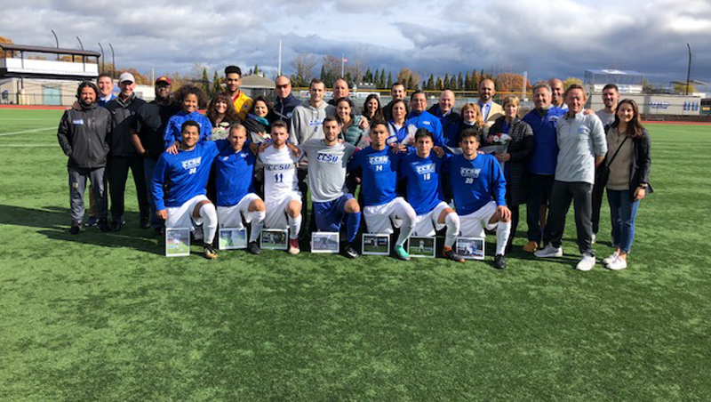 Men's Soccer Suffers Setback to Bryant on Senior Day