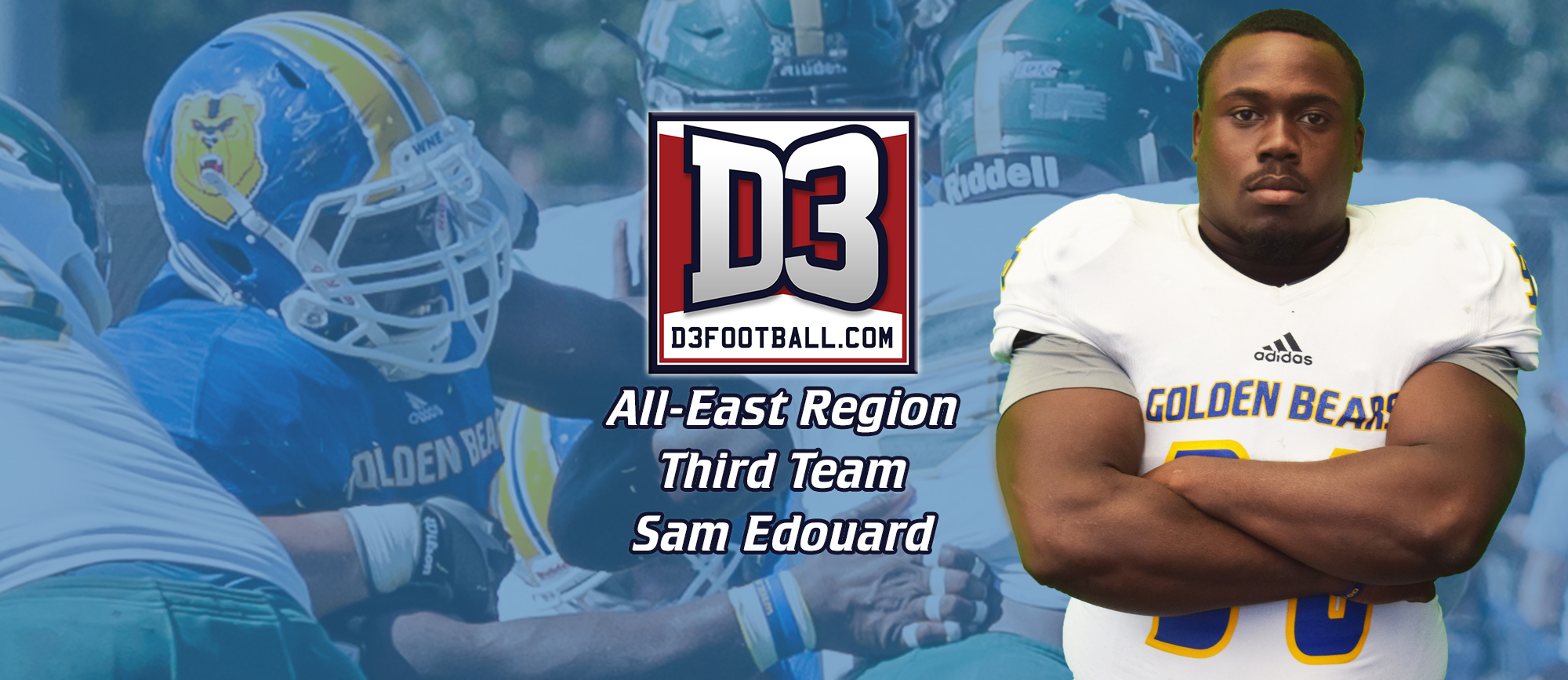 Sam Edouard Named to D3Football.com All-East Region Third Team