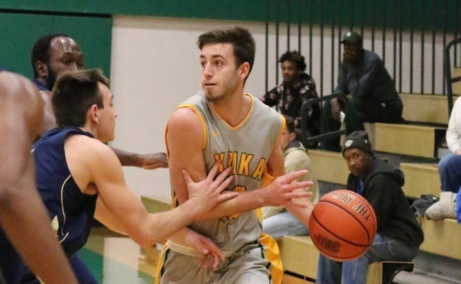 Sam Brown (23) went 5-6 from three and led Keuka with 17 points -- Photo by Ed Webber