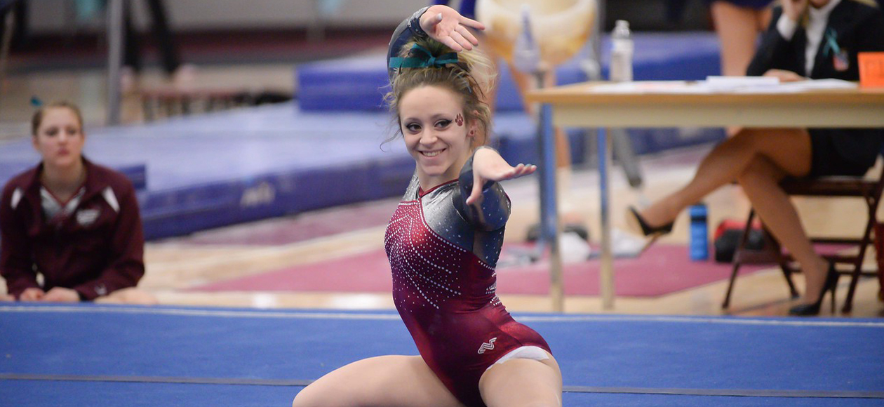 Women's Gymnastics Takes Second in Tri-Meet with Cortland and RIC