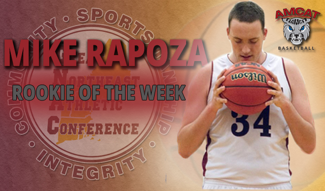 Rapoza Named GNAC Rookie of the Week for Fourth Time