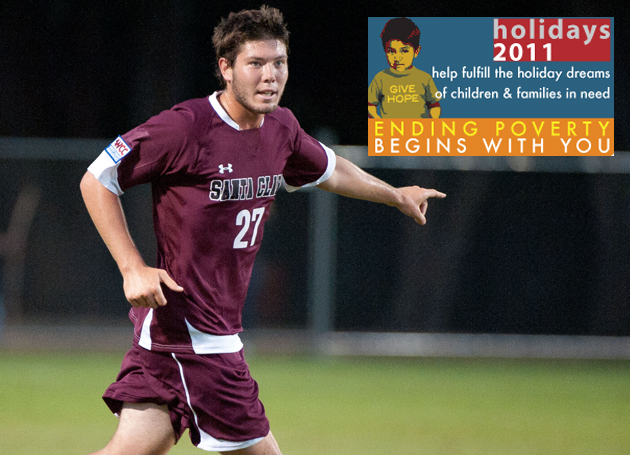 SCU Soccer's Eric Masch Needs Your Help Fighting Poverty in Silicon Valley!