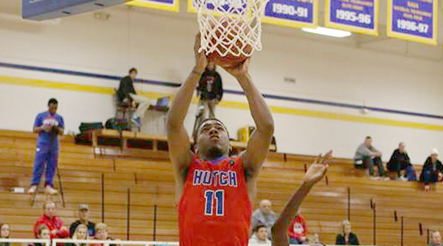 J.J. Rhymes scored a season-high 29 points, but the Blue Dragons fell to Cloud County 92-79 in overtime on Wednesday in Concordia. (Joel Powers/Blue Dragon Sports Information)