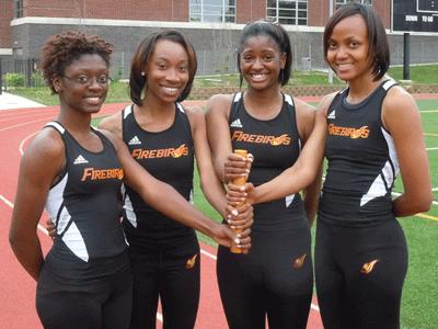 Firebirds 4x400 meter relay team