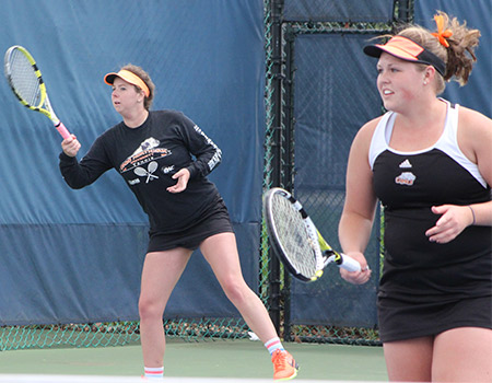 Women's Tennis falls to top-seeded John Carroll 5-1 in the finals of the OAC Tournament