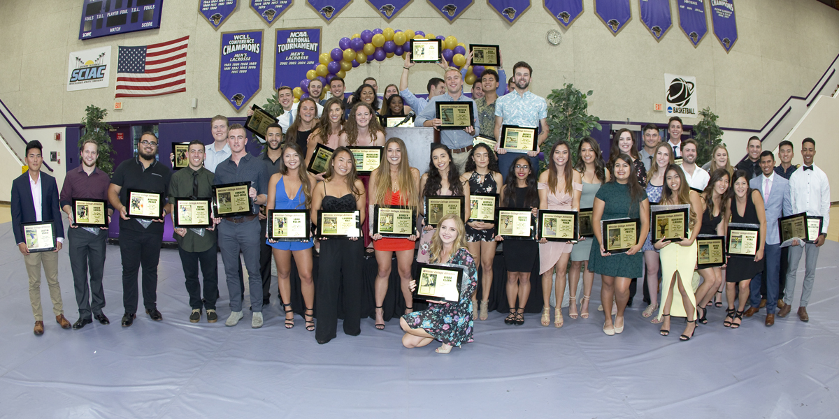 Athletics caps off 2017-18 with Purple & Gold All-Sports Awards Banquet