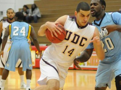 Ziad Ashmawy had 15 points and seven rebounds in UDC's win over Molloy.