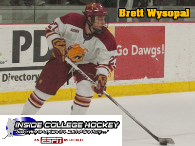 Inside College Hockey.com features Ferris State's Brett Wysopal