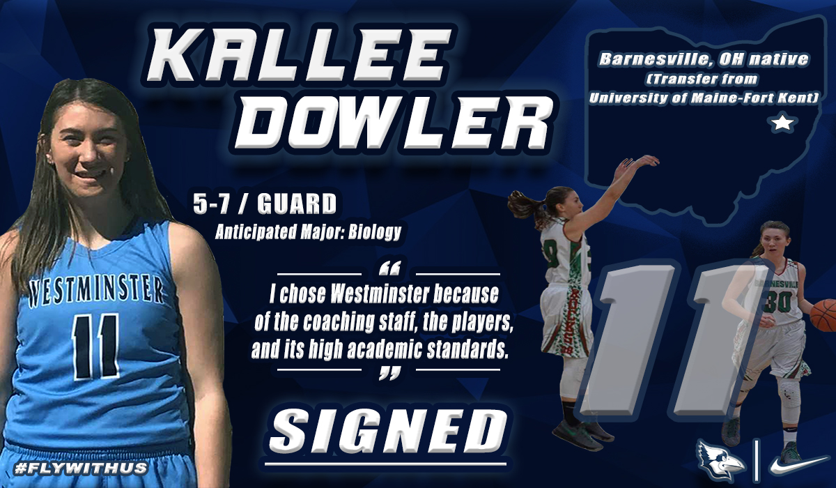 Dowler Transfer Added to Westminster Women's Basketball Roster