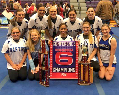 2019 Barton Dance Team at Region VI Championships