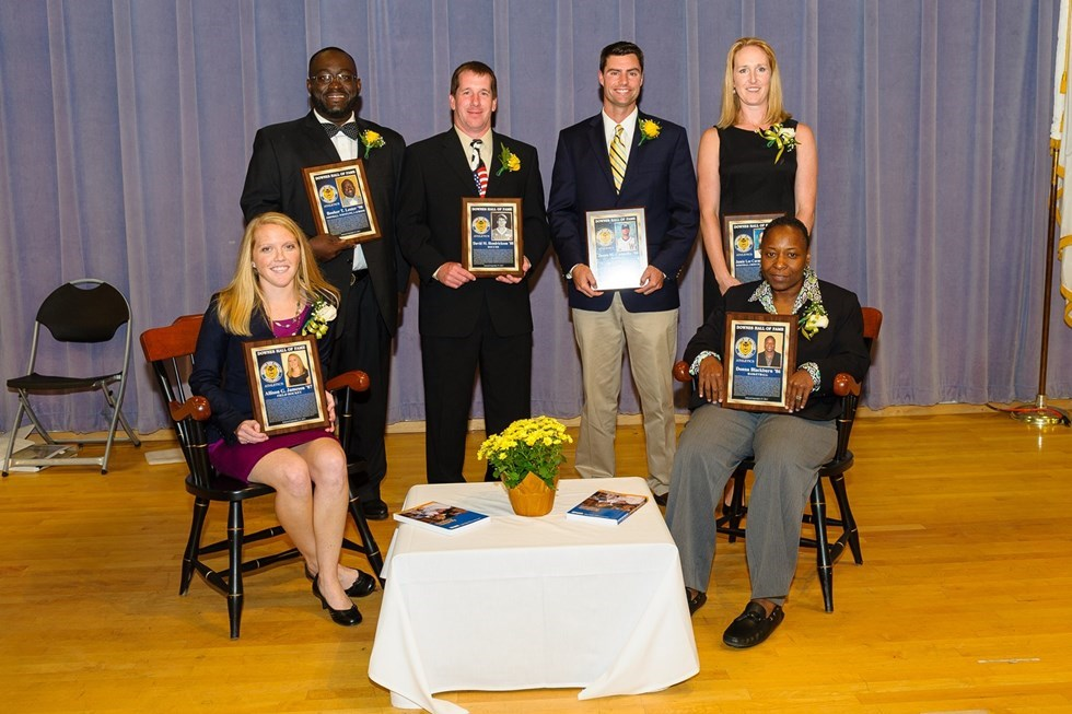 Six Former Greats Inducted to Downes Athletic Hall of Fame during Homecoming