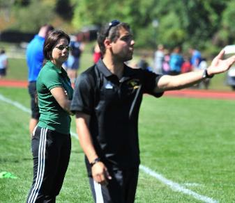 Tom Notte is the first Felician women's soccer coach to reach 50 career wins. (Dave Schofield)