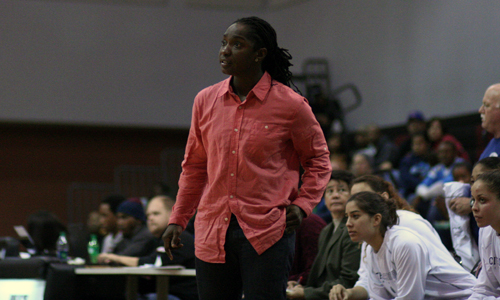 Head Citrus College Women's Basketball Coach Tamara McDonald has her Owls ranked in the State Coaches Poll for the first time in recent history. Photo By: Jerrika Ramirez & Alyssa Lozano