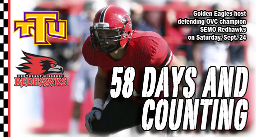 Golden Eagle Football Countdown: Defending champ SEMO visits Tucker Stadium