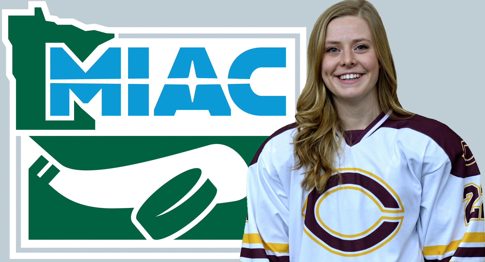 Concordia senior Emily Goff became the school's very first recipient of the MIAC Sheila Brown Award