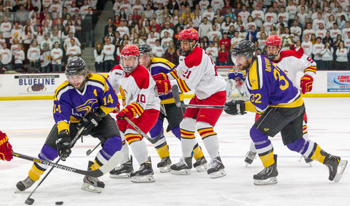 #8 Ferris State Hockey Skates To Exhibition Victory Over Wilfrid Laurier On Friday Night