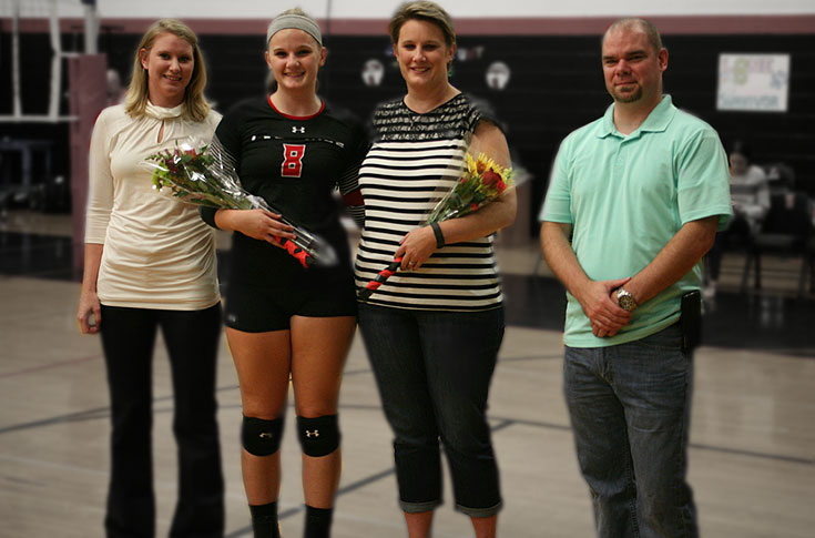 Volleyball: Panthers celebrate Senior Night by topping Huntingdon in USA South match