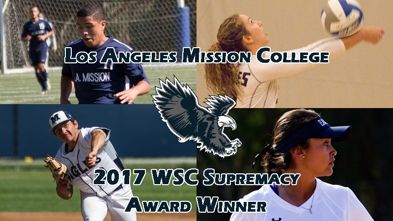 Los Angeles Mission College won their first ever Western State Conference Supremacy award on Tuesday. Photos Courtesy of LAMCAthletics.com.