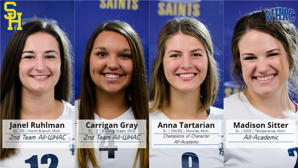 Four Saints Named in WHAC Volleyball Honors