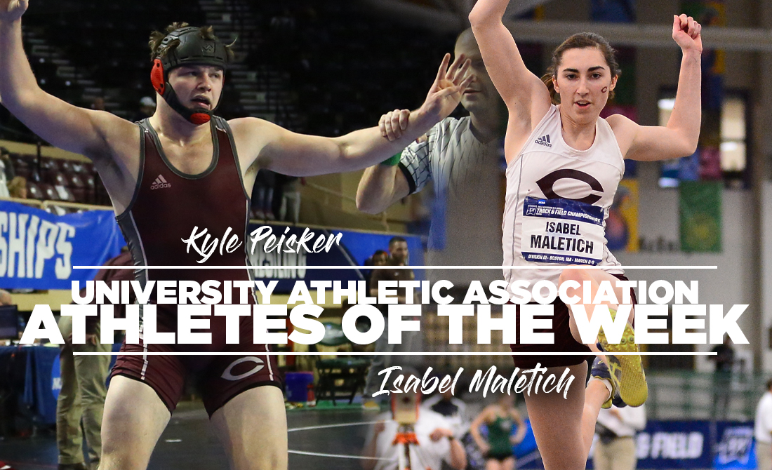 Peisker and Maletich Named as UAA Athletes of the Week