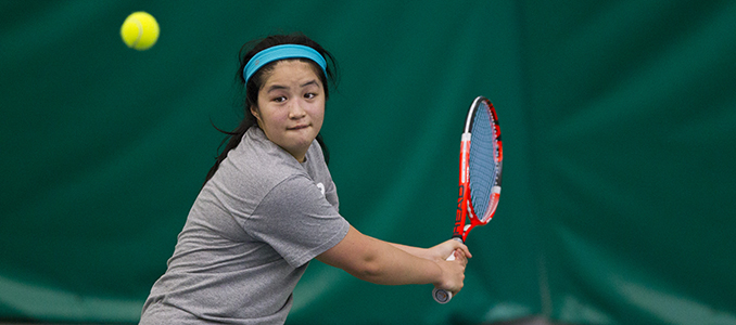 Lew & Sweetman Earn Women's Tennis Three Points in 6-3 Loss