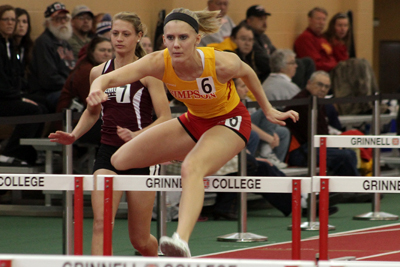Women's track and field tied for sixth at IIACs