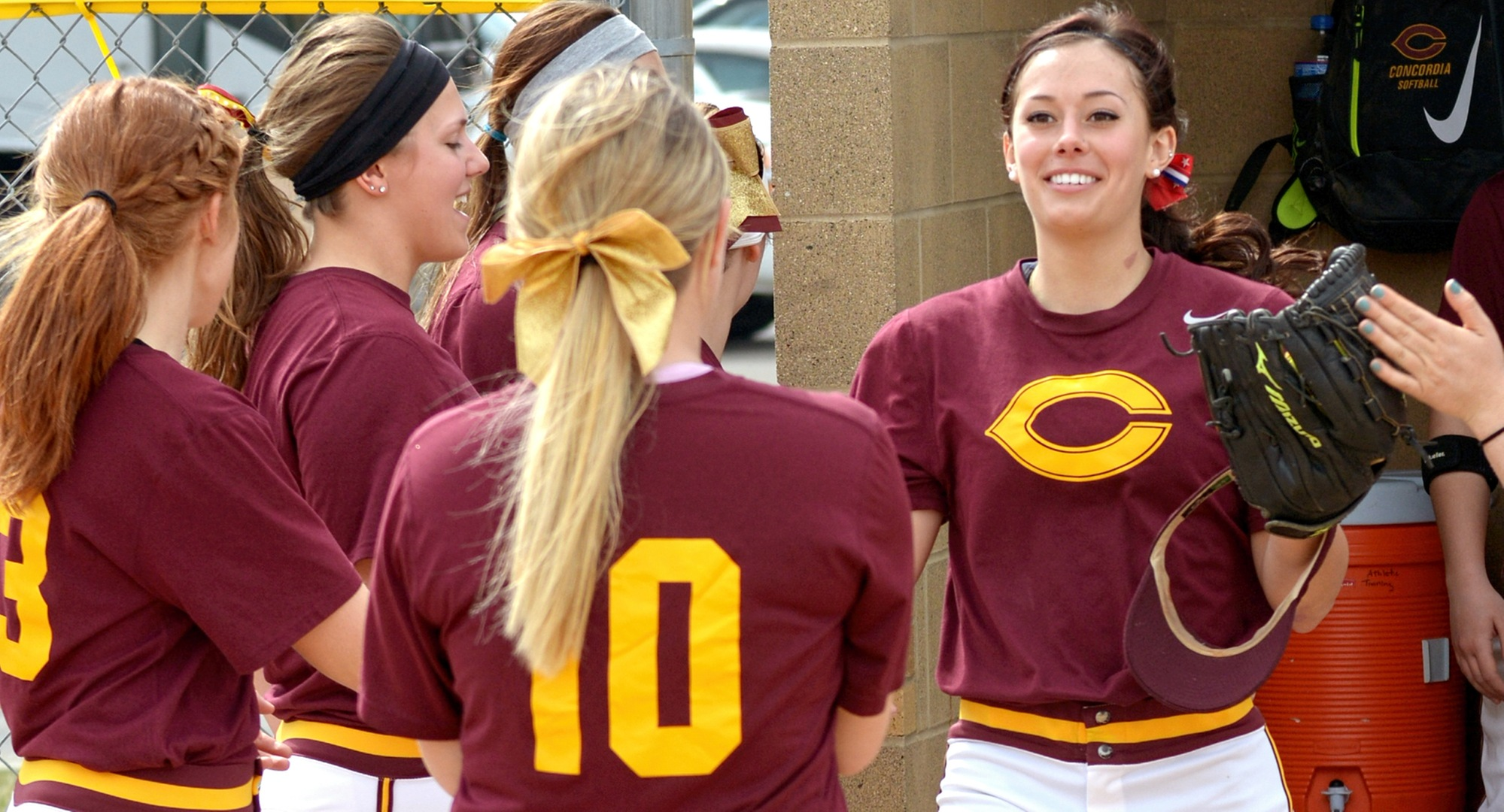 Senior Madison Little didn't make an out, scored four runs and stole six bases in the Cobbers' two wins to start the 2017 season.