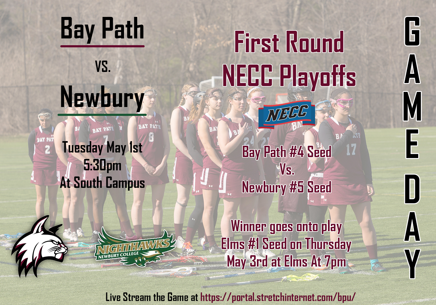 "Bay Path ""Wildcats"" clinch #4 seed in NECC Lacrosse Tournament"