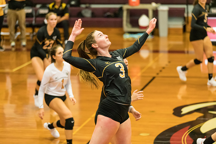 Volleyball Cruises to 3-0 Victory over New England College