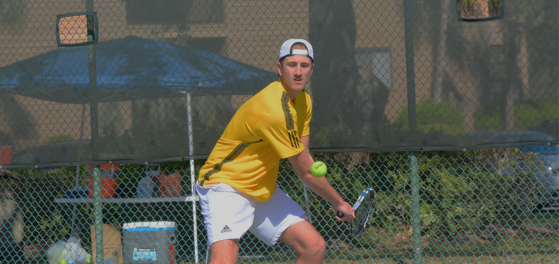 Sophomore ITA Scholar Athlete Jake Elbin won all of his matches against Capital and Marietta