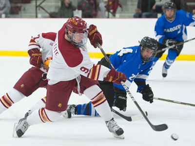 Travis Ouellette's two goals helped Ferris State win its fourth straight in a 5-2 home decision over Alabama-Huntsville Friday.  (Photo by Ed Hyde of FSU Photographic Services)