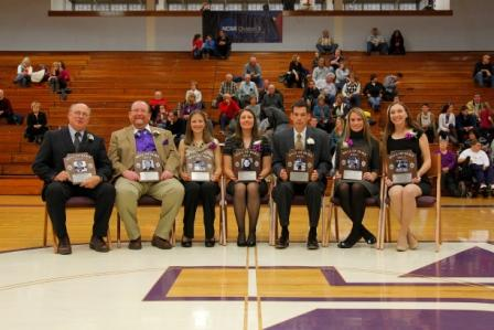 Wall of Fame Class of 2011 was inducted Saturday at the Long Center.  From left:  Steve Klingman (accepting on behalf of Carlos Loureiro), John Kelly, Kelly (Halpin) Fisher, Sarah (Gazdalski) DalFol, William Burke (accepting on behalf of Joseph Fent), Amy (Connolly) Fabel and Nicole Bayman.