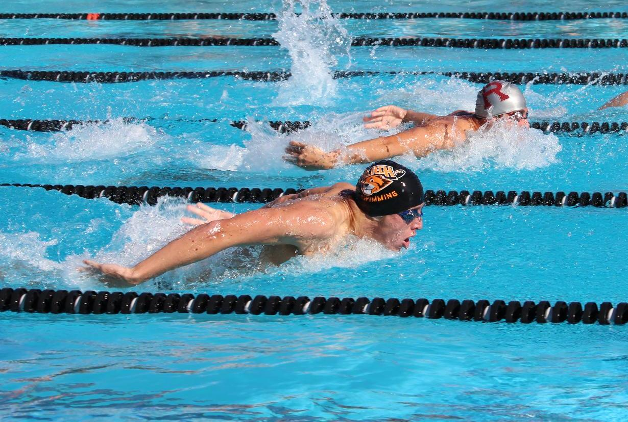 Steiner Leads Men's Swim & Dive to First Win over Whittier Since 2008