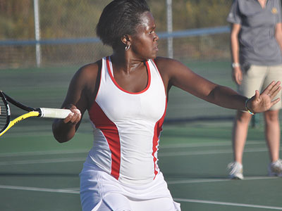 Ferris' Tabitha Simpson was a double winner against Lake Erie (Photo by Rob Bentley)
