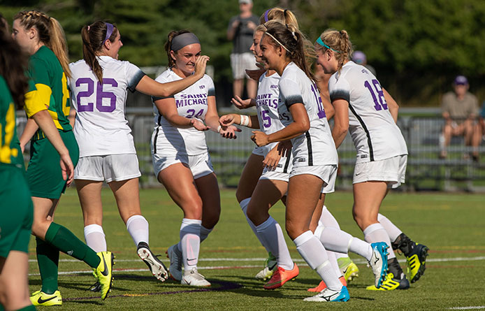 Three Net Multiple Goals in Women's Soccer's Home-Opening Victory Over NVU-Lyndon