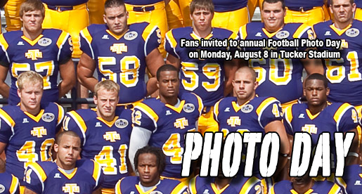 Annual Football Photo Day set for Monday, Aug. 8 in Tucker Stadium