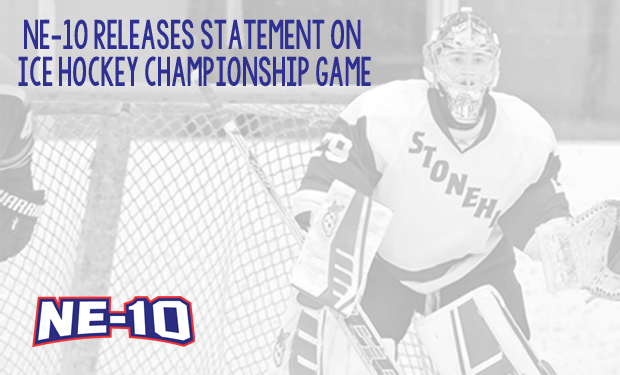 Northeast-10 Conference Makes Statement on Ice Hockey Title Game
