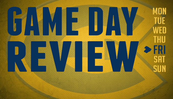 Game Day Review - Friday, February 21, 2014