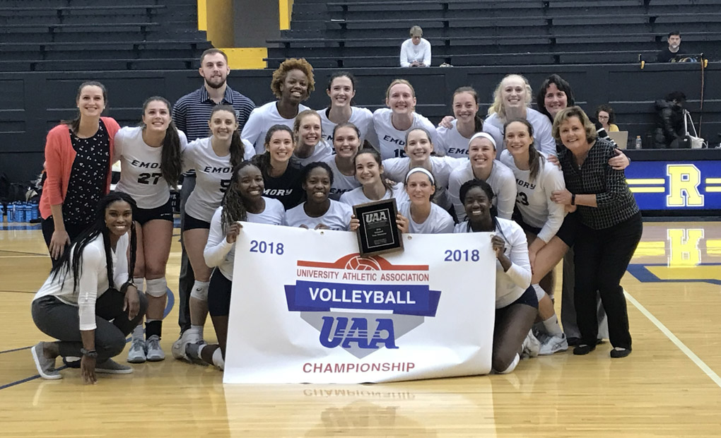 Emory Volleyball Sweeps Chicago To Win UAA Crown -- Earns Automatic Bid To NCAA Tournament