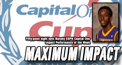 Murphy nets ESPN's Capital One Impact Performance of the Week honor