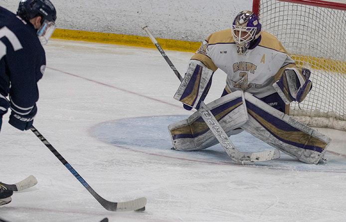 Men's Ice Hockey Returns to Road with Setback at Tufts