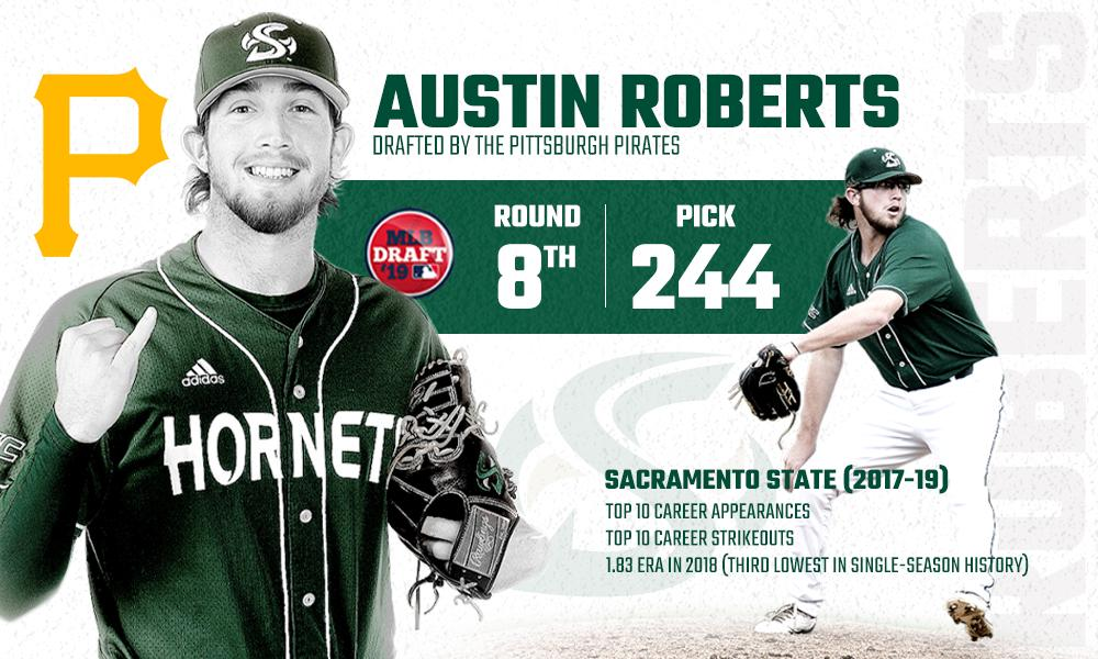 AUSTIN ROBERTS SELECTED BY THE PITTSBURGH PIRATES IN THE 8TH ROUND OF THE 2019 MLB DRAFT