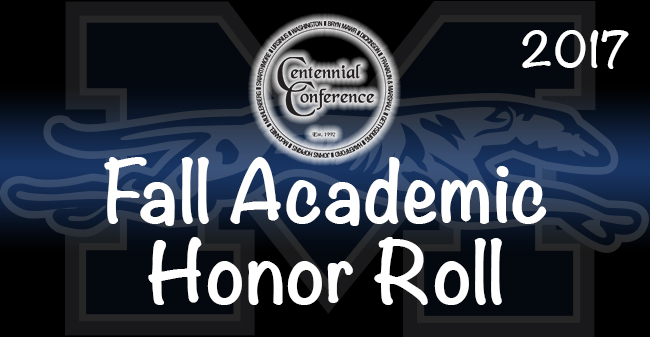 The 2017 Centennial Conference Fall Academic Honor Roll has been announced.