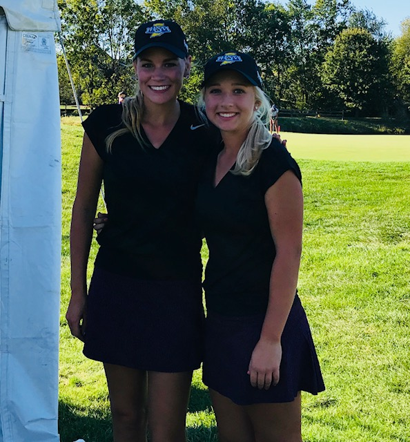 M. Kier and H. Thomas Compete at State Golf Match