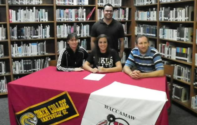 Waccamaw's Hill to Join the Coker Volleyball Team in 2012