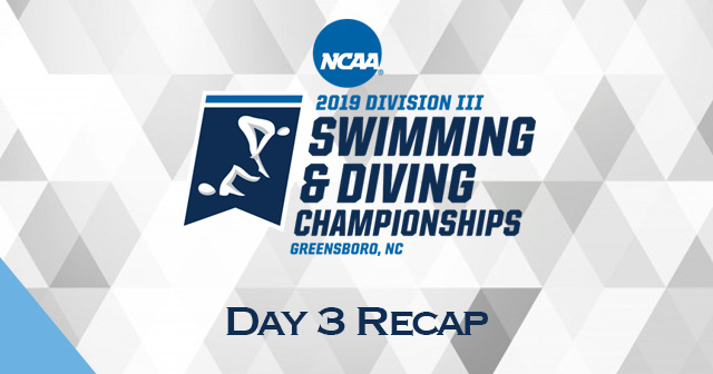 NCAA Swimming & Diving Championships: Day 3 Recap