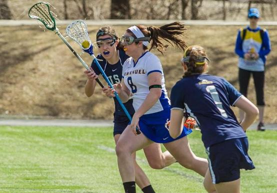 WOMEN'S LACROSSE DOWNS SAINT JOSEPH IN SEASON OPENER