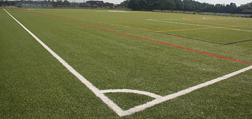 artificial turf field. The Turf Is Situated In Same Location Of An Old Grass Field That Was Used By Men\u0027s And Women\u0027s Lacrosse Soccer Between 1989 2005. Artificial