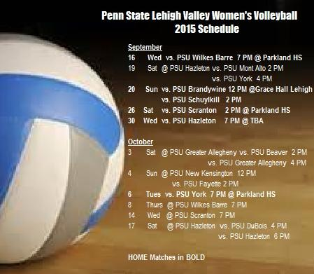 Women's Volleyball 2015 Schedule Announced